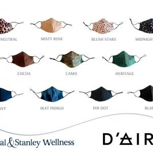 D'AIRE Silk Masks, all day luxe protection with breathable technology